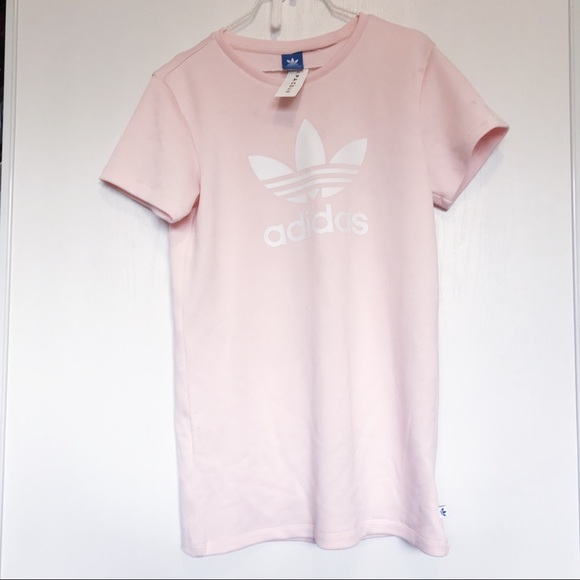 027e59d4bb6c Adidas pastel light pink t shirt dress